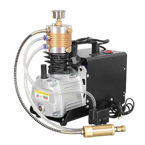 HUKOER Bomba de compresor de Aire eléctrica de Alta presión (300BAR 30MPA 4500PSI) Control