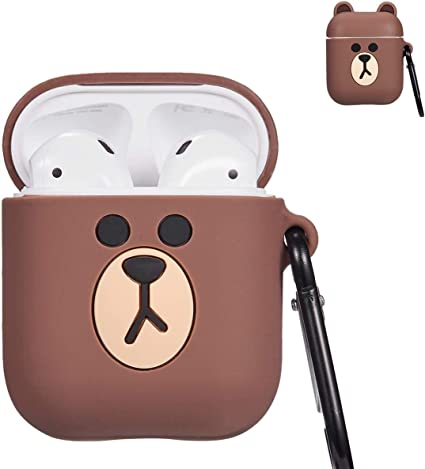 Amazon Com Punswan For Airpods 1 2 Charging Case 3d Cute