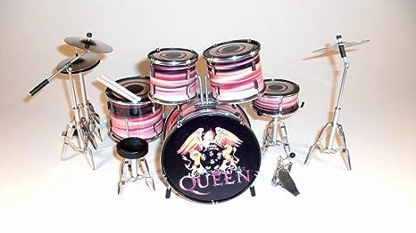 RGM309 Reina una batería en miniatura diseño de guitarra eléctrica de miniaturas Freddy Mercury Brian May ...