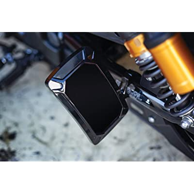 Kuryakyn 3191 Motorcycle Accent Accessory: Nova Curved License Plate Holder and Frame with Wraparound LED Illumination Lighting, Vertical Side Mount, Gloss Black: Automotive