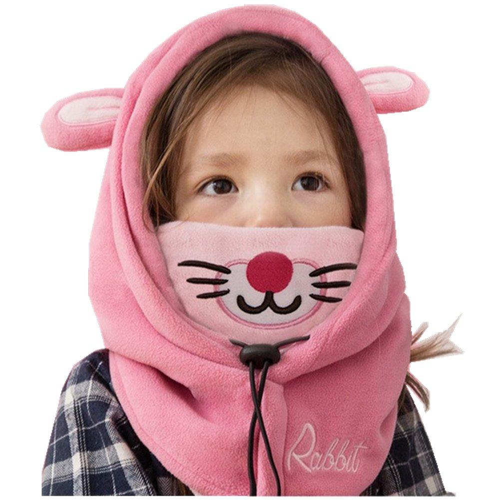 YUANMY Bonnet Cache Cou Enfant Cagoule Bébé Garçon Fille Cache Oreilles  Capuche Animaux Hiver 1- ff13971137a