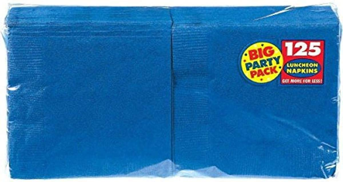 Amscan Bright Royal Blue Luncheon Napkins Big Party Pack, 125 Ct.