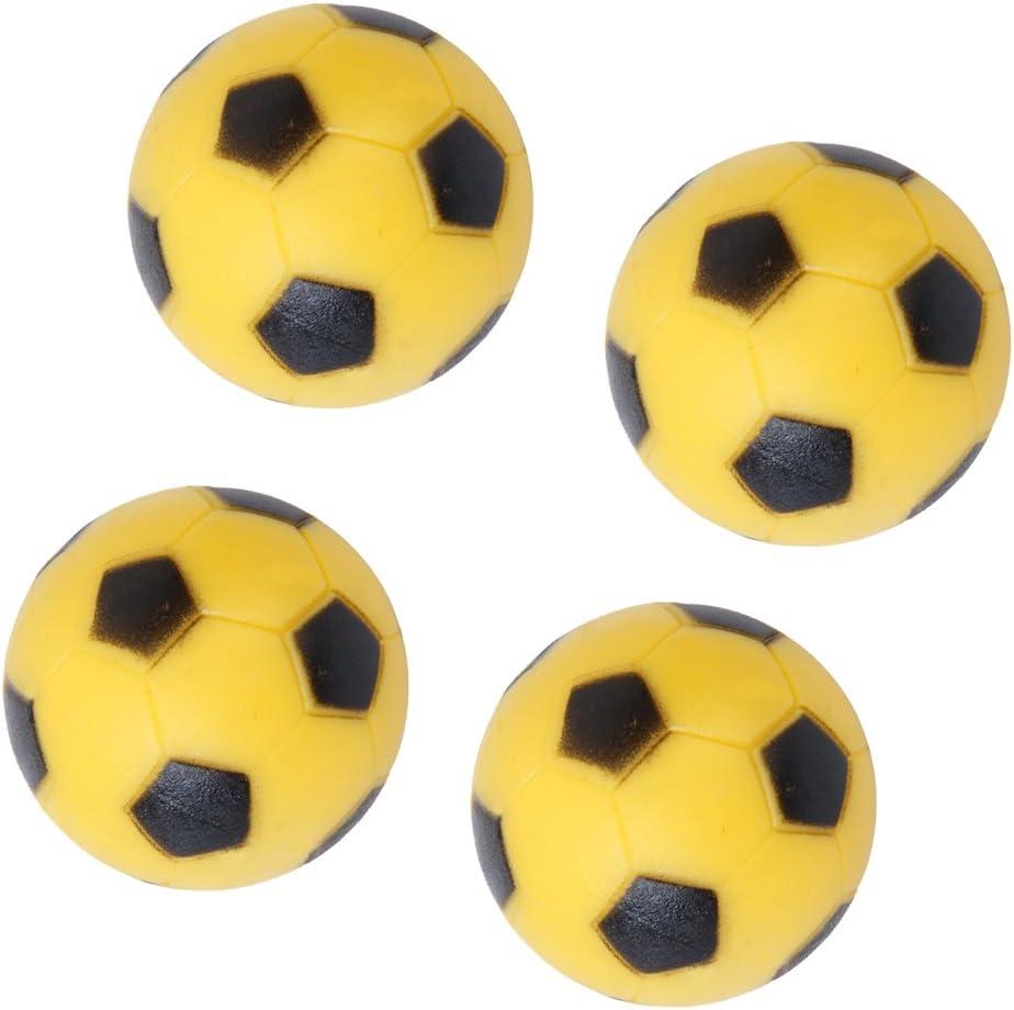 4pcs 36mm Juguete Fútbol Para Mesa Fútbol-Amarillo y Negro: Amazon ...