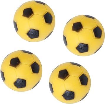 4pcs 36mm Juguete Fútbol Para Mesa Fútbol-Amarillo y Negro: Amazon.es: Deportes y aire libre