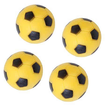 Generic 4pcs 36mm Soccer Table Foosball Football Fussball Replacement Ball Yellow Black