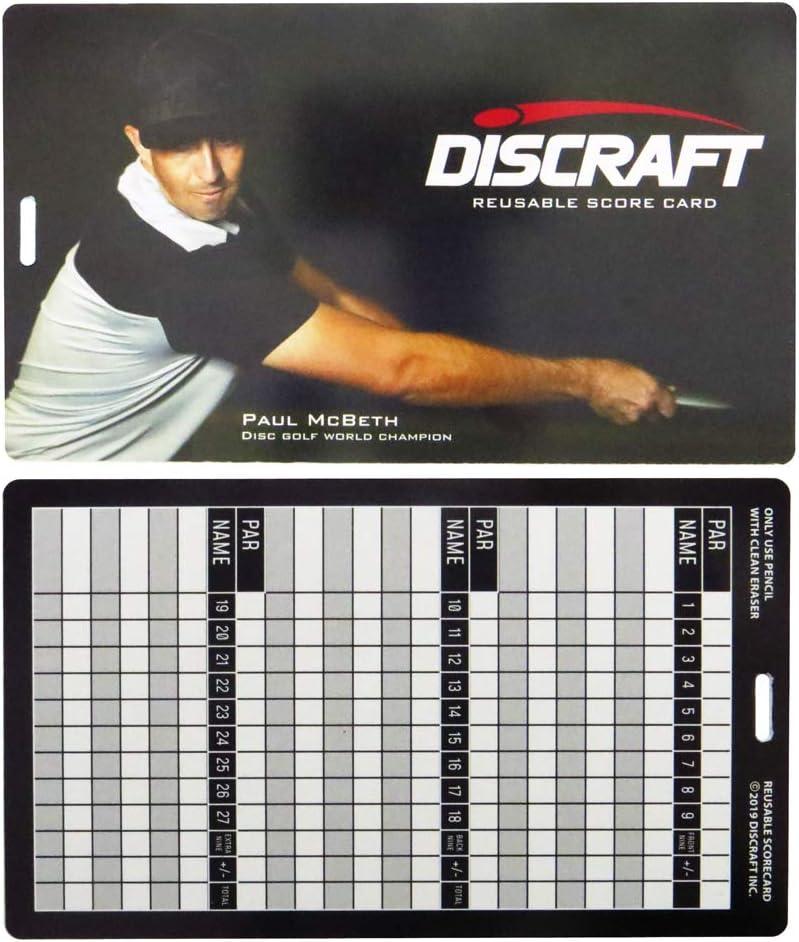 Discraft Reusable Disc Golf Scorecard