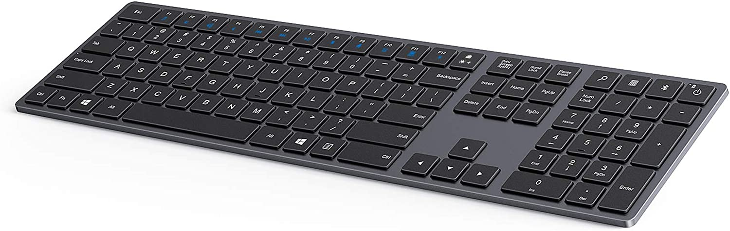 Universal Rechargeable Wireless Keyboard with Number Pad
