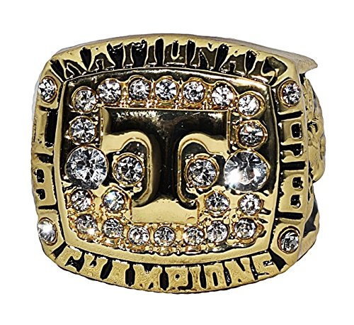 UNIVERSITY OF TENNESSEE (Cates) 1998 NCAA NATIONAL CHAMPIONS Rare & Collectible High-Quality Replica College Football Gold Championship Ring