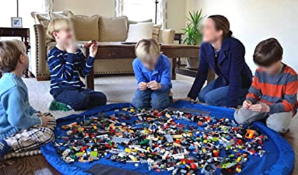 Blau FakeFace Nylon Aufbewahrungsbeutel f/ür Kinder Spielzeuge Aufr/äumsack /& Spieldecke 2 in 1 Spielzeugaufbewahrung Matte Spielzeugbeutel Spielzeugtasche
