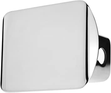 LFPartS Blank Black Trailer Metal Hitch Tube Cover Fits 2 Receivers