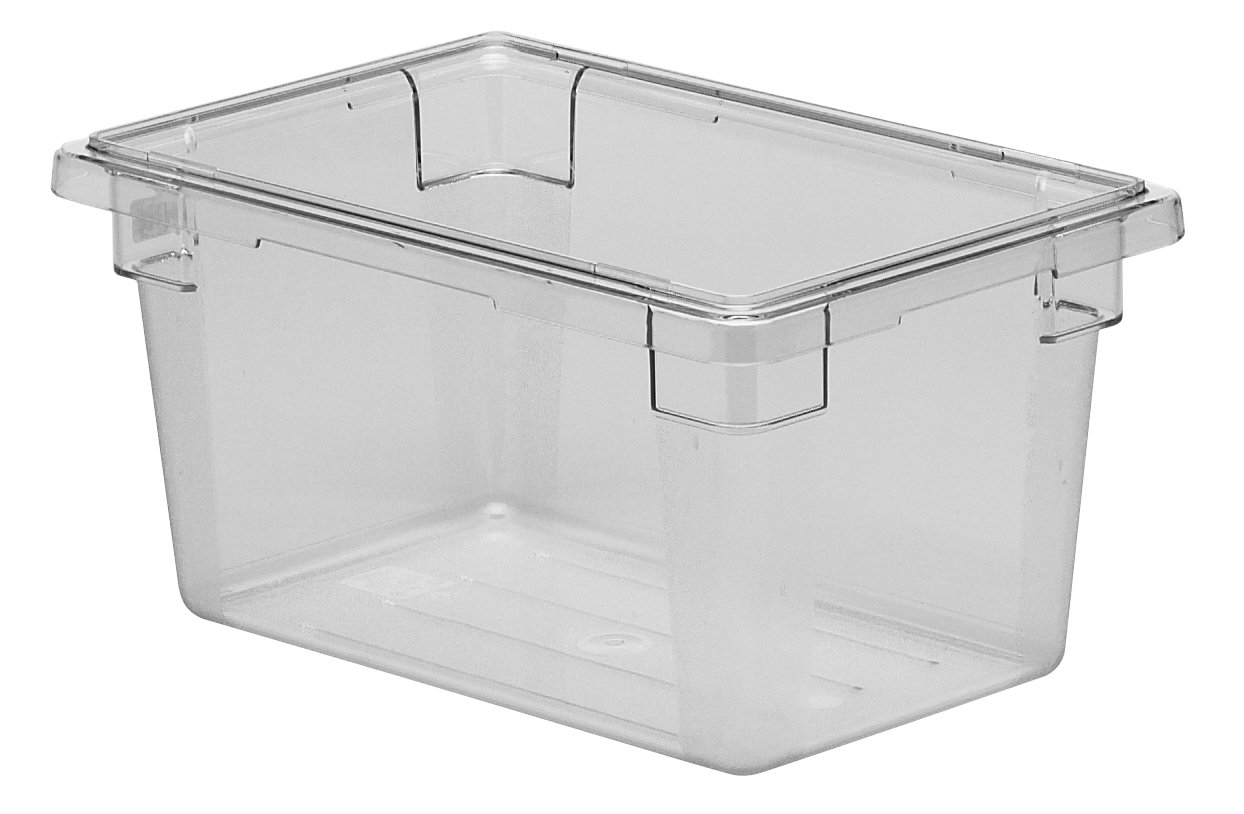 Cambro 12189CW135 Camwear Food Storage Container 12'' x 18'' x 9'' 4.75 Gallon - 6 Pack/Unit