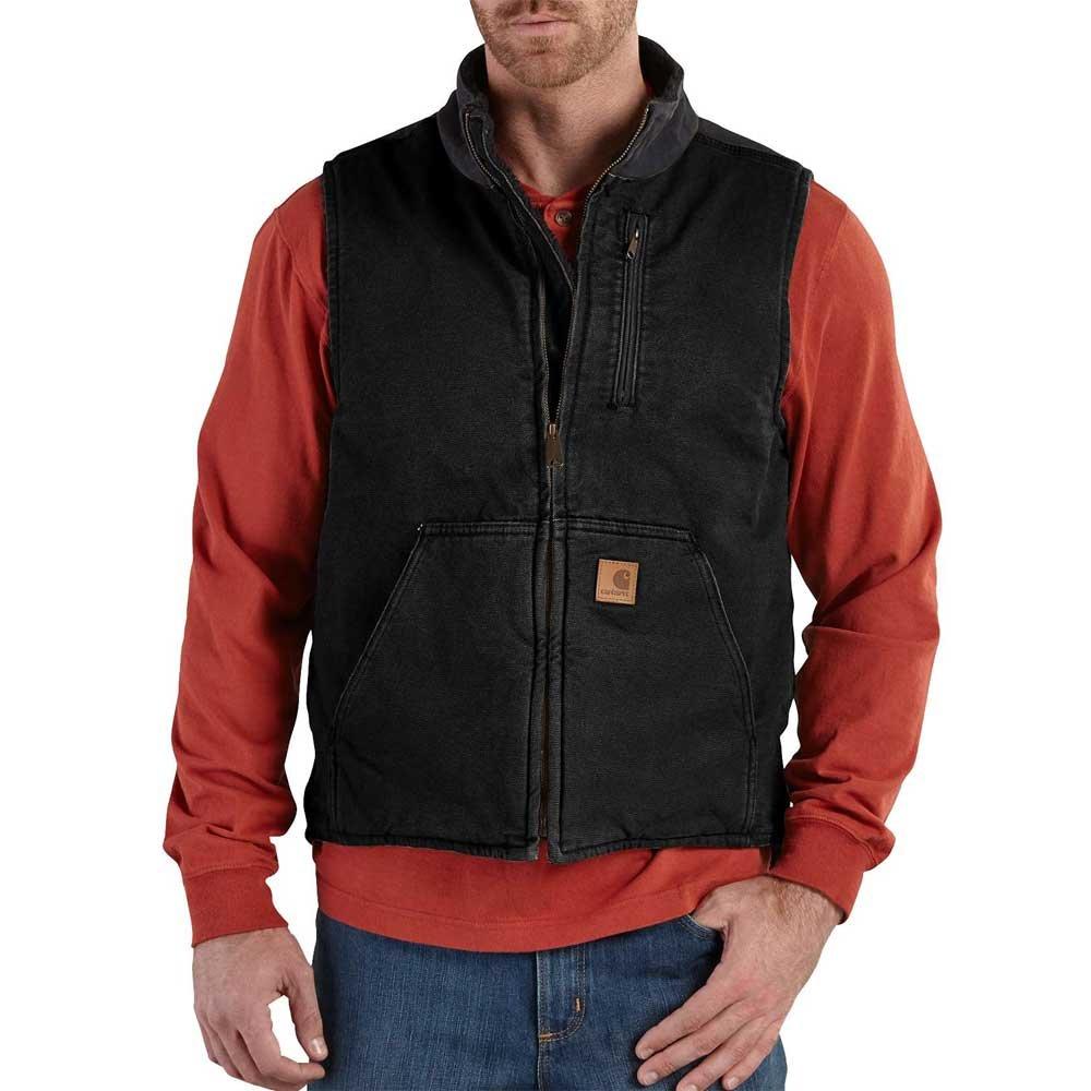 Carhartt Men's V33 Sandstone Mock-Neck Vest - Sherpa Lined - Large - Black by Carhartt