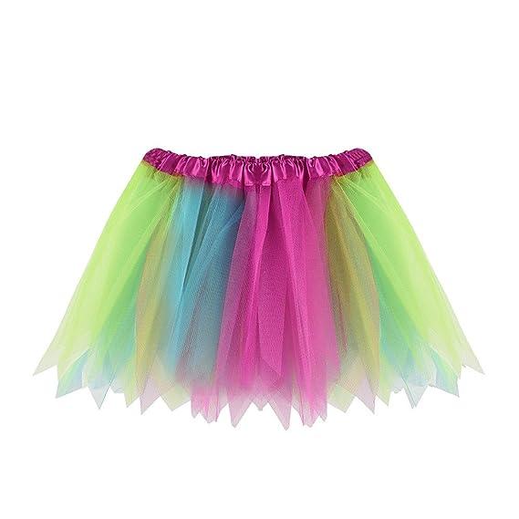 86eae9944 Cinnamou Falda de Ballet Niña, Color de Patches Tutú de Malla ...