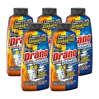 Drano Dual-force foamer clog remover, 17 fl Ounce (Pack of 5)