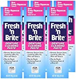 Fresh 'n Brite Denture Cleaning Paste, Minty Gel, 3.8 Ounce Tube (Pack of 3), Cleans, Whitens, and...