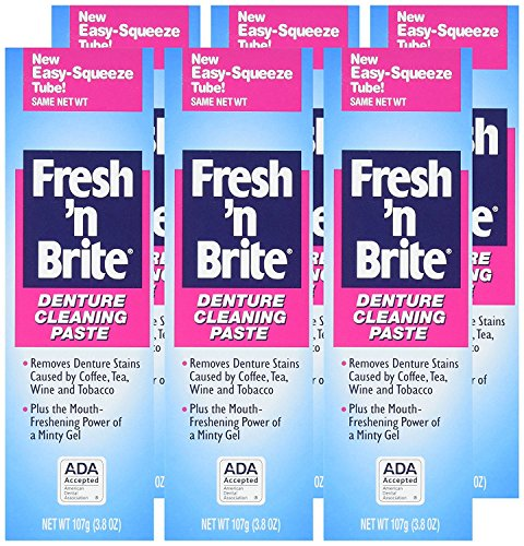 Fresh 'n Brite Denture Cleaning Paste cleans and deodorizes your dentures, mouthguards, and...