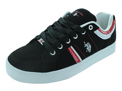 U.S. POLO ASSN. Diamond Back Casual Shoes, Negro (Negro/Rojo ...