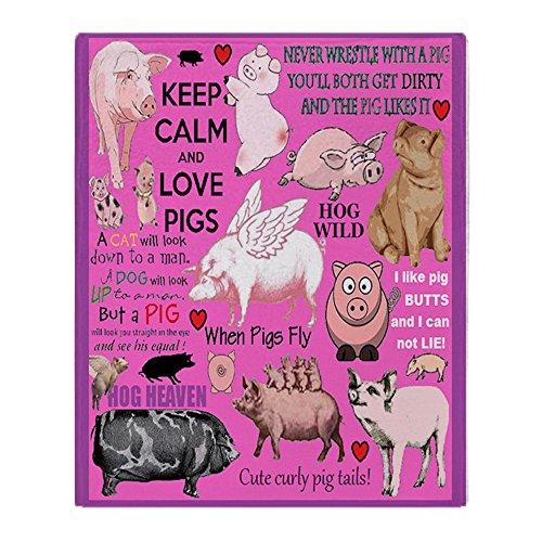 "CafePress - Pigs - Soft Fleece Throw Blanket, 50""x60"" Stadiu"