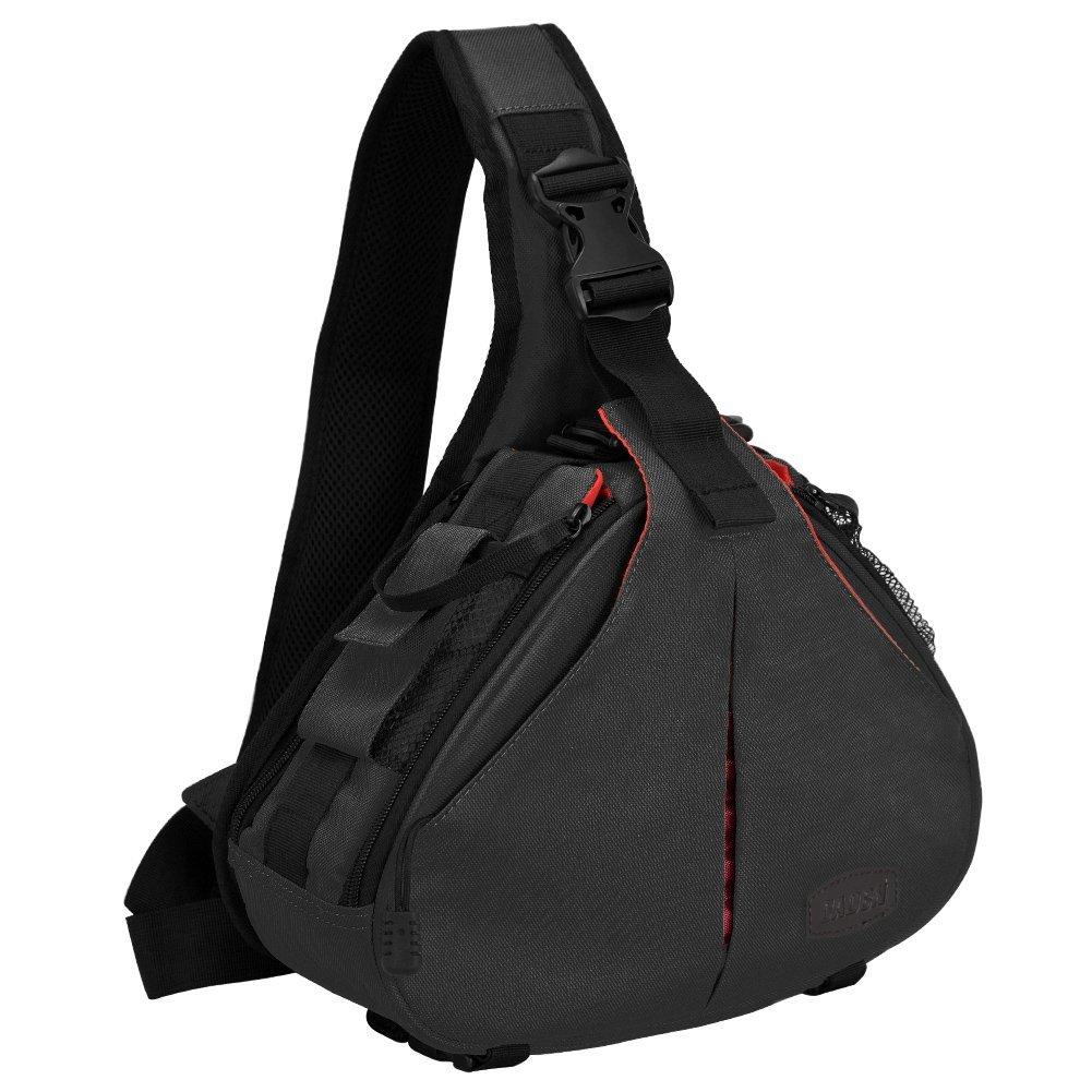CADeN DSLR Camera Sling Bag for 1 Camera, 2 Lens, Tripod, Rain Cover (Canon Nikon Sony Pentax)