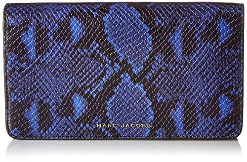 Marc Jacobs Block Letter Snake Wallet Leather Strap Clutch Cobalt Snake - Clutch Jacobs Marc Wallet