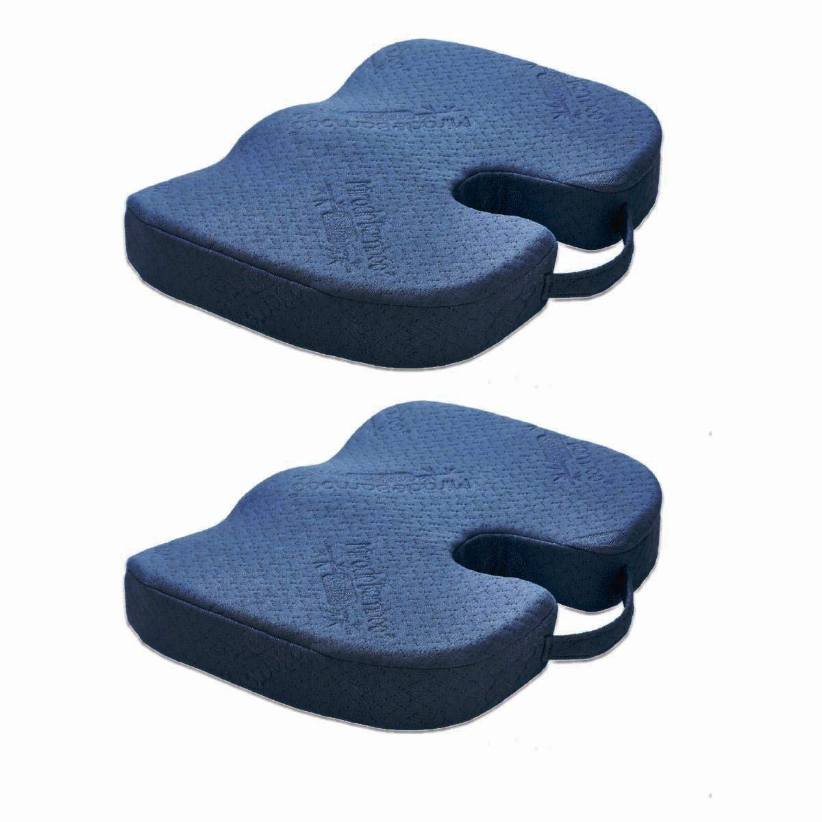 As Seen On TV Miracle Bamboo Cushion Deluxe Navy Blue Pack of 2