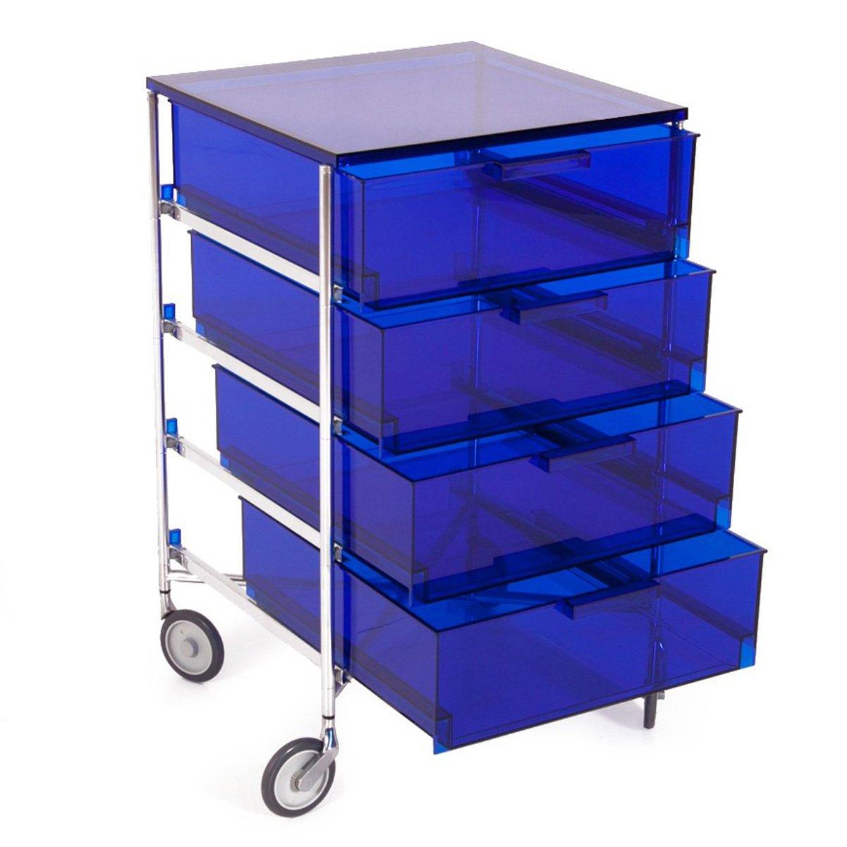 Kartell 2024L7 Container Mobil, 4 Schubladen, blau