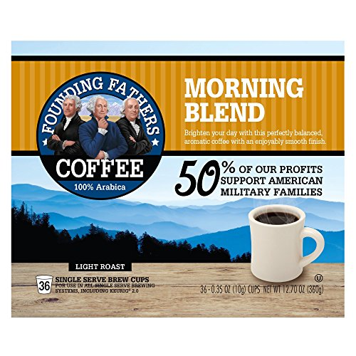 Founding Fathers Coffee, Morning Blend, 36 Count