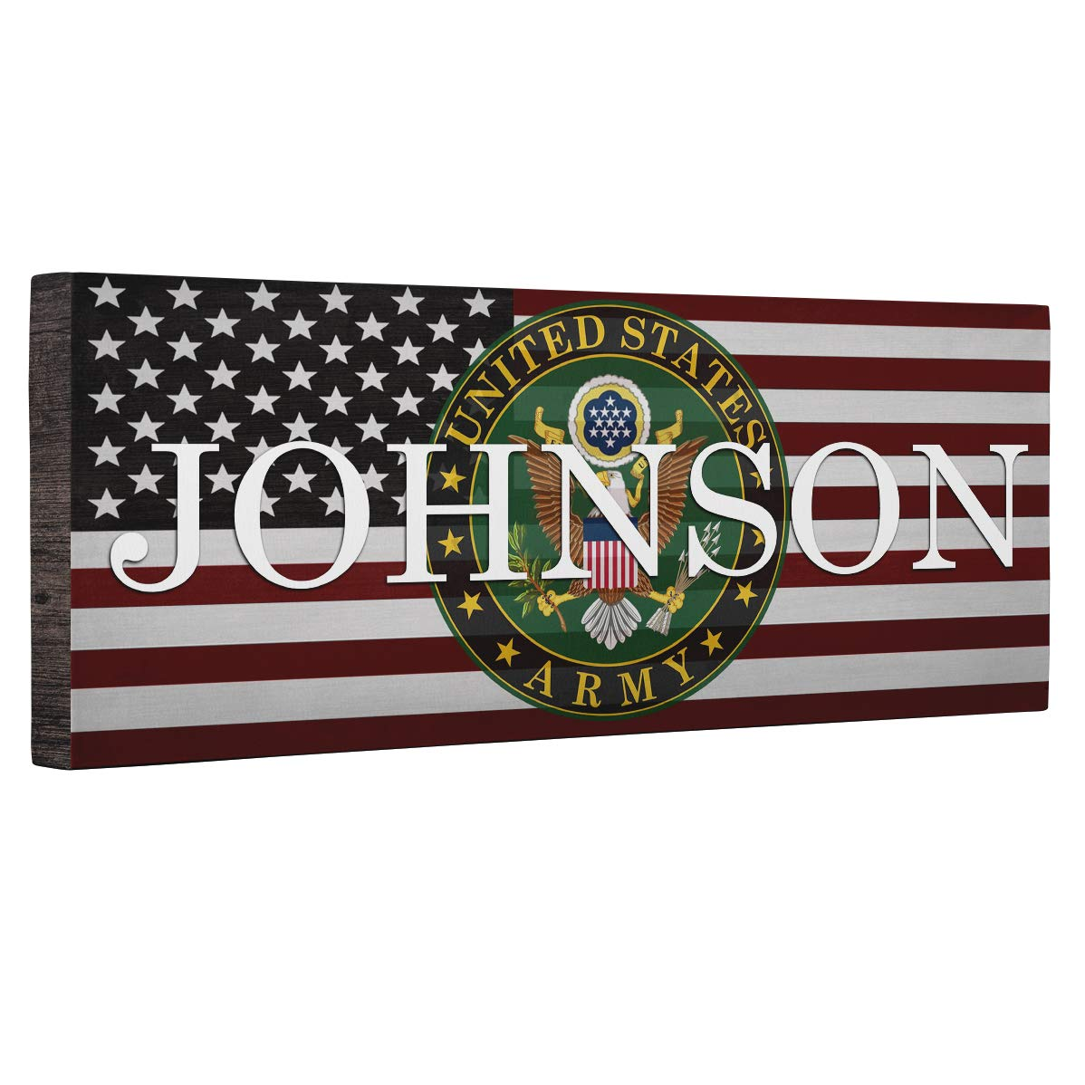 Hero Army With Flag CANVAS Wall Art Home D cor