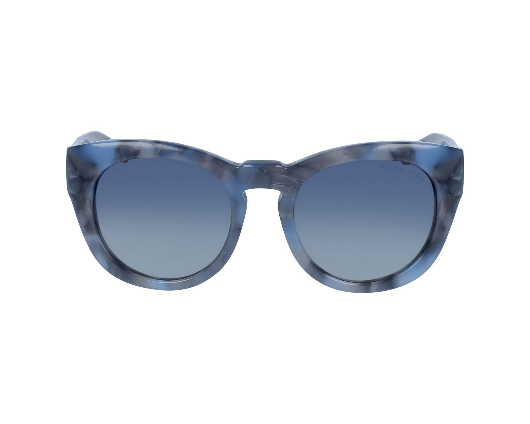 Michael Kors MK2037 32094L Blue Marble Summer Breeze Round Sunglasses Lens Cate