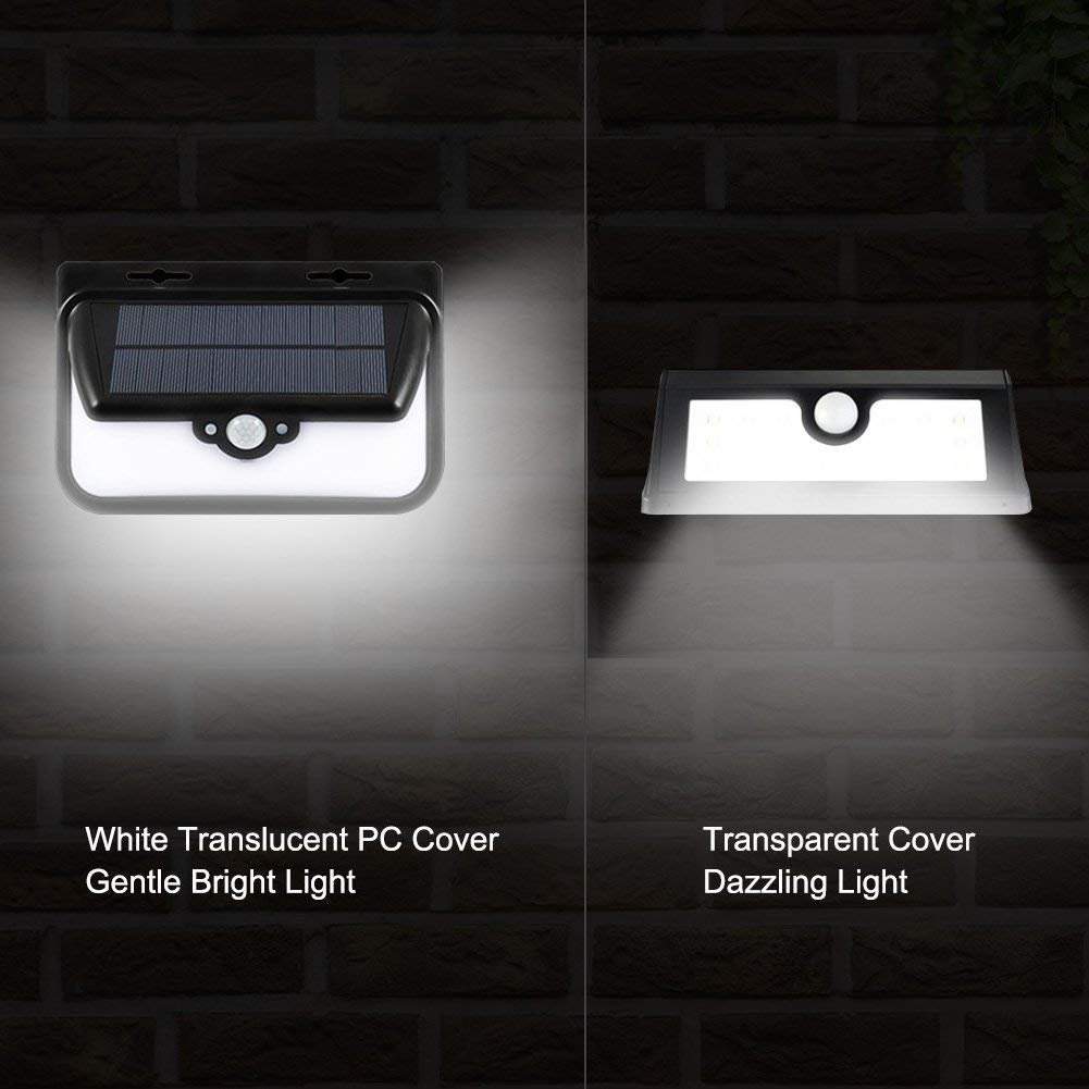 Solar Lights Outdoor 48 LED Solar Lights Wall Light Outdoor IP65 Waterproof Security Lighting Nightlight with Motion Sensor Detector and Remote Control