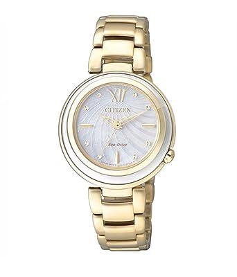Armbanduhr damen gold  Citizen Damen-Armbanduhr XS Citizen L Analog Quarz Gold EM0336-59D ...