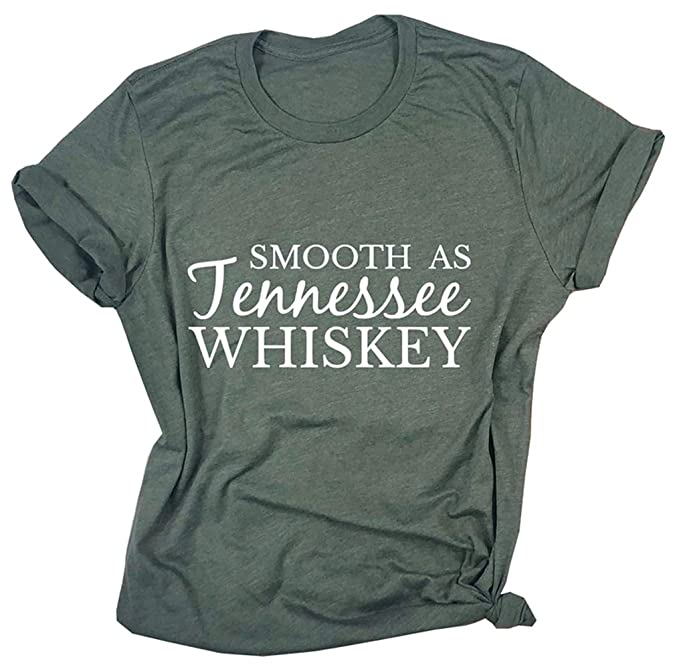 619c18db Smooth as Tennessee Whiskey T Shirt for Women Graphic Country Cowgirl Tees  Letter Shirts Tops with Sayings at Amazon Women's Clothing store: