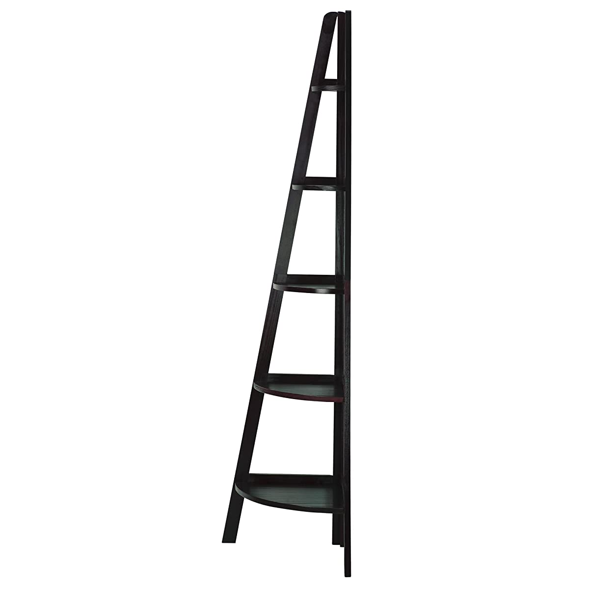 Casual Home 5-Shelf Corner Ladder Bookcase