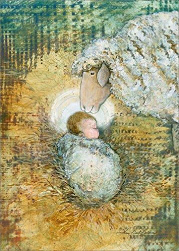 Christmas Card Religious - Lamb of God: Sherri Buck Baldwin - LPG Religious Box of 18 Christmas Cards