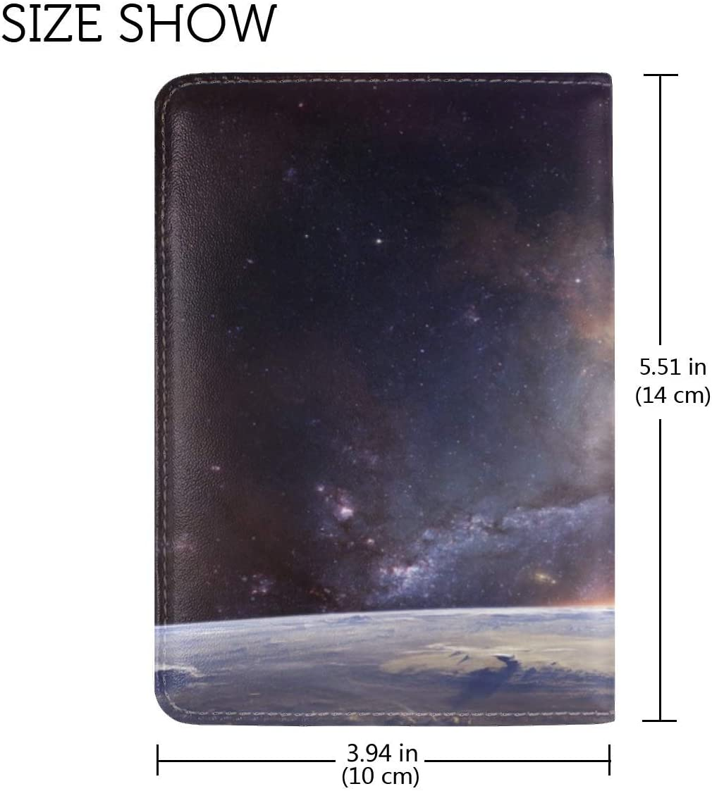 JiaoL Galaxy Universe Stars Leather Passport Holder Cover Case Travel One Pocket