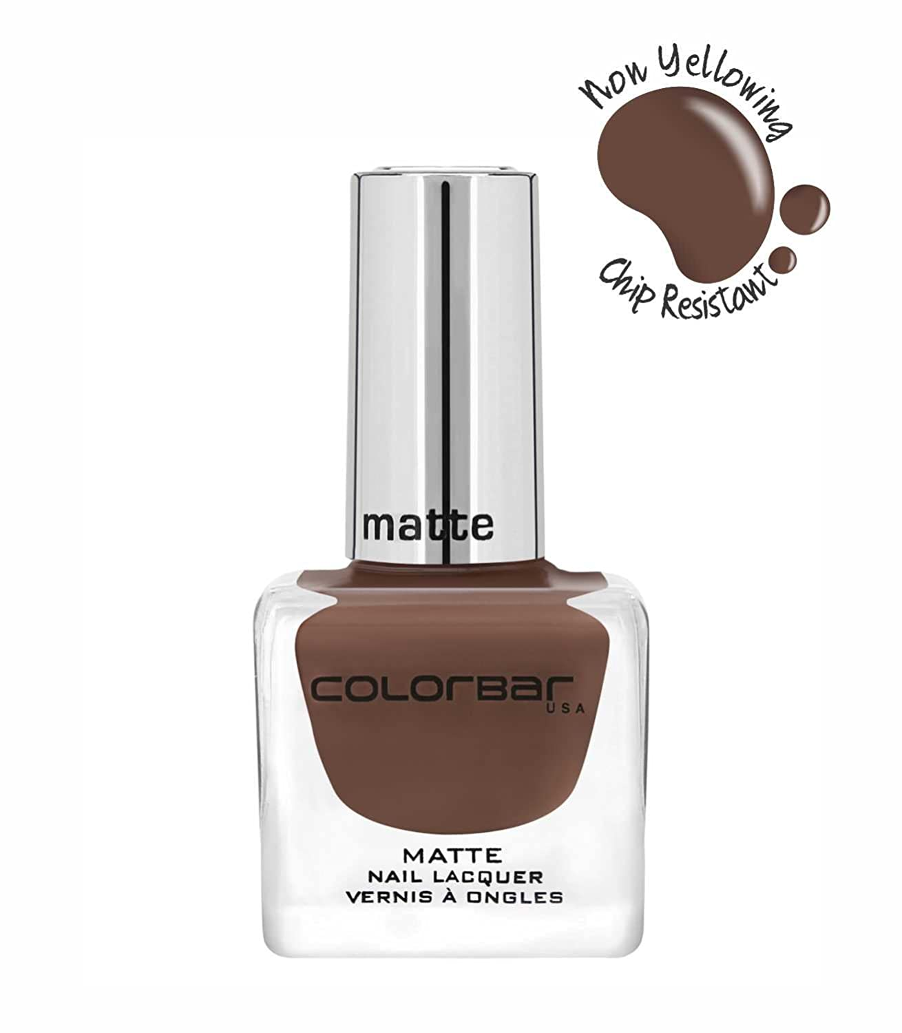 Buy Colorbar CMN005 Matte Nail Lacquer, Brown, 12ml Online at Low ...