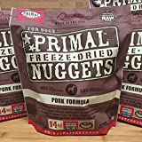 Primal Pet Foods Canine Freeze Dried Nuggets Pork Formula for Dogs 14oz by Primal For Sale