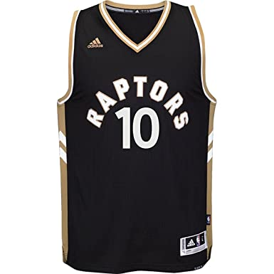 c6070b71a5d adidas Kyle Lowry Toranto Raptors  7 NBA Youth Black Gold Swingman  Alternate Jersey (X