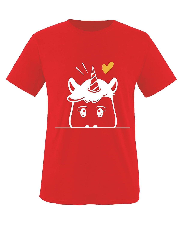 M/ädchen T-Shirt Comedy Shirts Rundhals Luscherndes Einhorn 100/% Baumwolle Top Basic Print-Shirt
