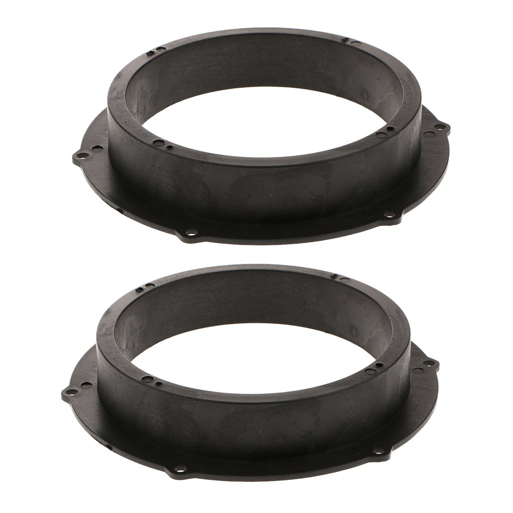 uxcell 6.5 Inch Car Black Plastic Speaker Spacers Round 2 Pcs