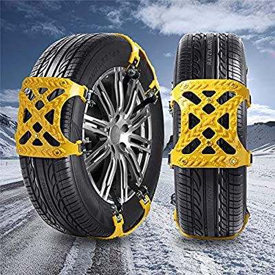 Ownest Anti Snow Chains Car Anti Slip Tire Chains Emergency Security Snow Chains for Most Cars and SUVs