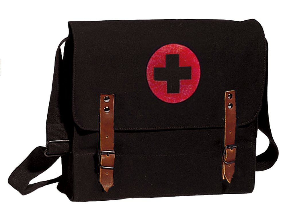 Black Military Nato Medic Bag New by Rothco