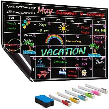 Amazon Com Fanse Large Magnetic Chalkboard Calendar And