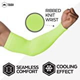 UV Protection Cooling Arm Sleeves - UPF 50 Long Sun Sleeves for Men & Women. Perfect for Cycling, Driving, Running, Basketball, Football & Outdoor Activities. Performance Stretch & Moisture Wicking