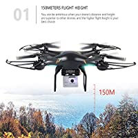 GoolRC Drones Quadcopters with 2.0MP Camera T106 WIFI FPV Altitude Hold RTF RC Drones for Beginner from GoolRC