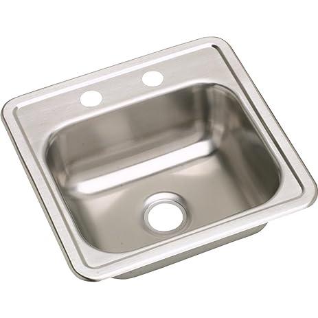 Dayton D115153 Single Bowl Top Mount Stainless Steel Bar Sink