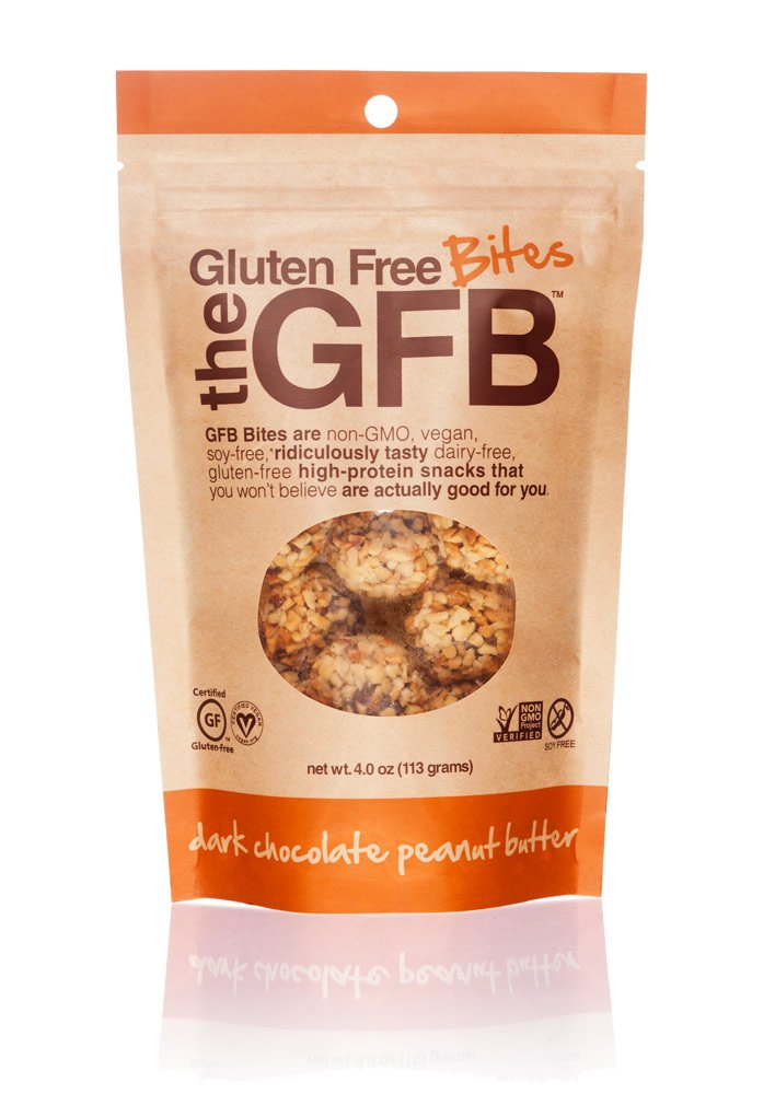 The GFB Gluten Free, Non-GMO High Protein Bites, Dark Chocolate Peanut Butter, 4 Ounce