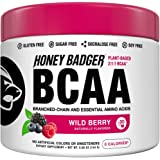 Honey Badger Vegan Keto BCAA + EAA Electrolyte Powder | Wild Berry | Natural Gluten Free Amino Acids Essential Aminos…