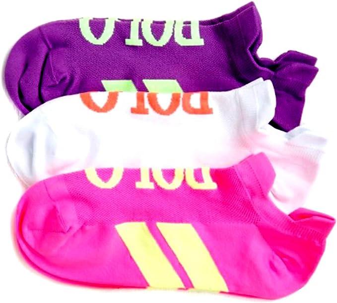 ONE PAIR BRAND NEW  RALPH LAUREN POLO WOMEN  LOW CUT SOCKS PINK SIZE 9-11
