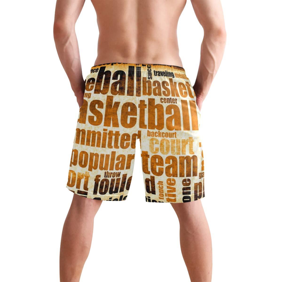 KVMV Basketball Game Sport Grunge Quick Dry Beach Shorts